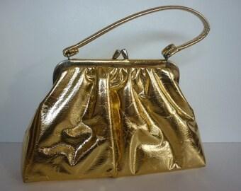 Metallic Gold Handbag from the 50s Bombshell GLAM