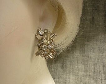 VTG Juliana / D & E Rhinestone Earrings  Glitzy Wedding Bling
