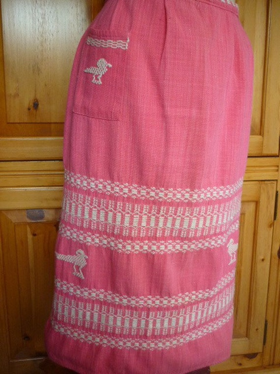 VTG 1950s Mexican Apron hand woven