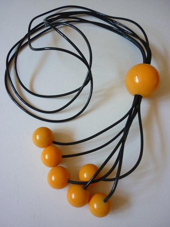 80s Avant Garde New Wave Necklace POP Plasic NOS