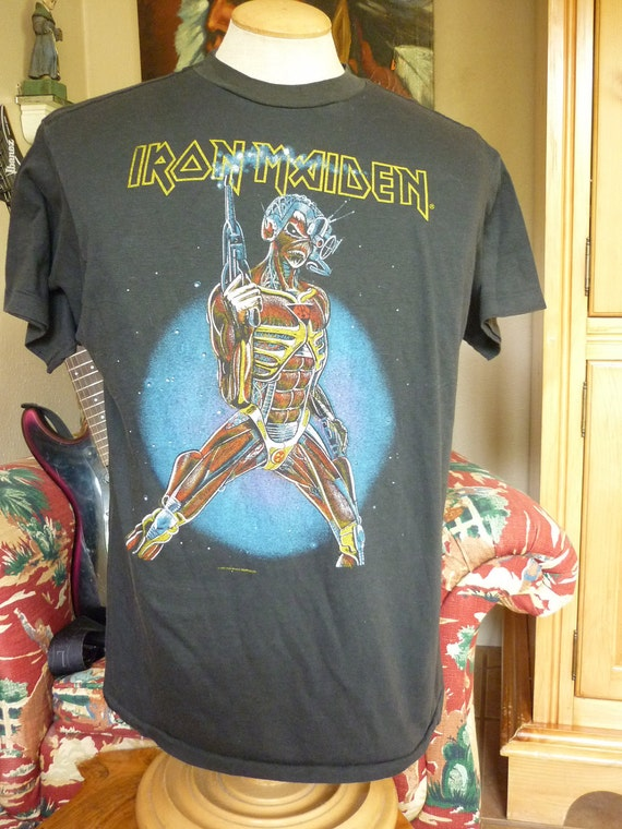 ReSErVeD for SC vtg 80s Iron Maiden Concert Tee heavy metal