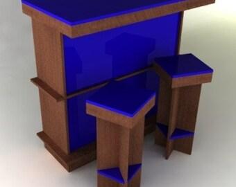 Modern Dry Bar Furniture Plan