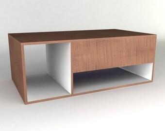 Modern Coffee Table Furniture Plan - Tri-Box Coffee Table