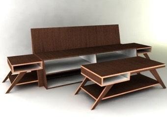 Modern Living Room Collection Furniture Plan