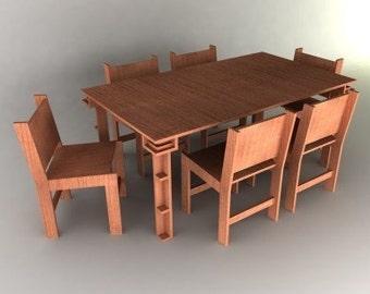 Dining Room Set Furniture Plans