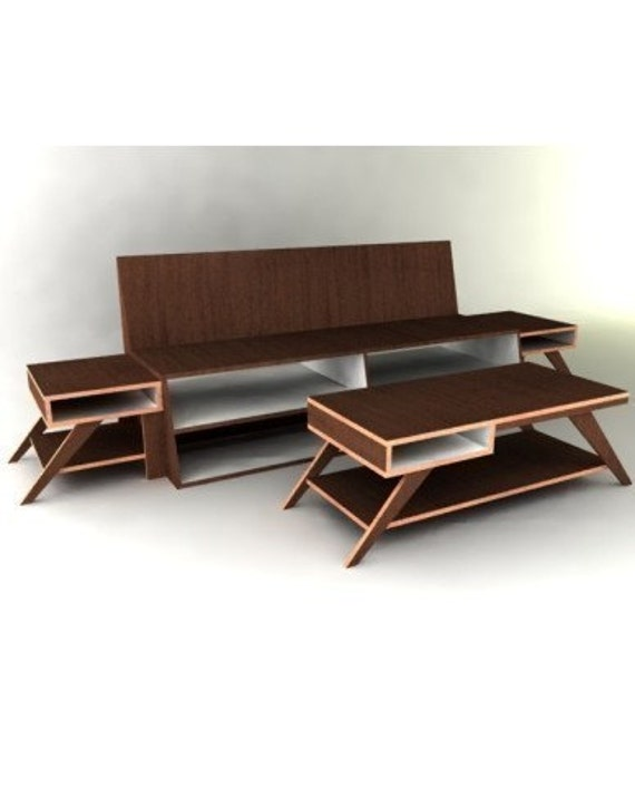 Modern Furniture Woodworking Plans modern living room collection furniture plan from plancanvas on