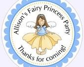 Custom Fairy Princess Birthday Labels, Birthday Stickers, Birthday Decoration, Personalized Children S