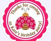 Custom Lady Bug Birthday Labels, Birthday Decoration, Personalized Children Stickers, Ladybug Party stickers