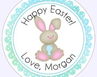 Custom Bunny Easter Labels, Stickers - Personalized for YOU