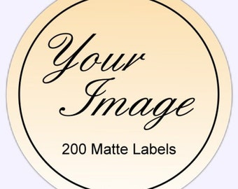 Custom Logo Stickers or Business Labels - TWO INCH round - Get 200 MATTE round labels in 2 inch size