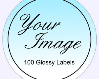 Custom Logo Stickers or Business Labels - 100 2 inch GLOSSY round labels