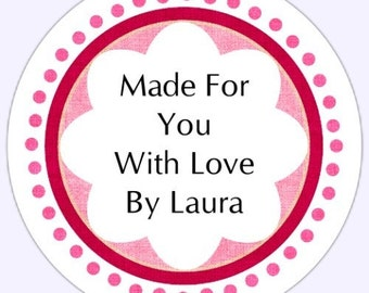 Custom Labels, Stickers - NOW IN TWO SIZES...2 inch round OR 2.5 inch round - Personalized for YOU