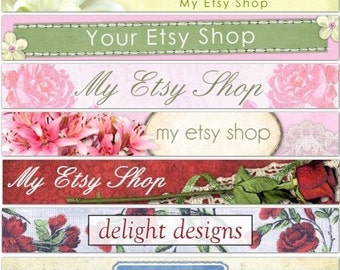 Custom Etsy Header / Custom Banner and Avatar - personalized and designed FOR YOU and your business