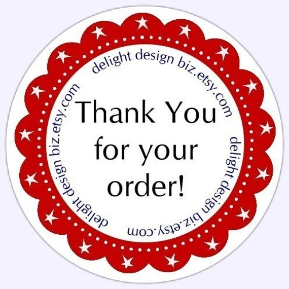 Thank You Stickers Business