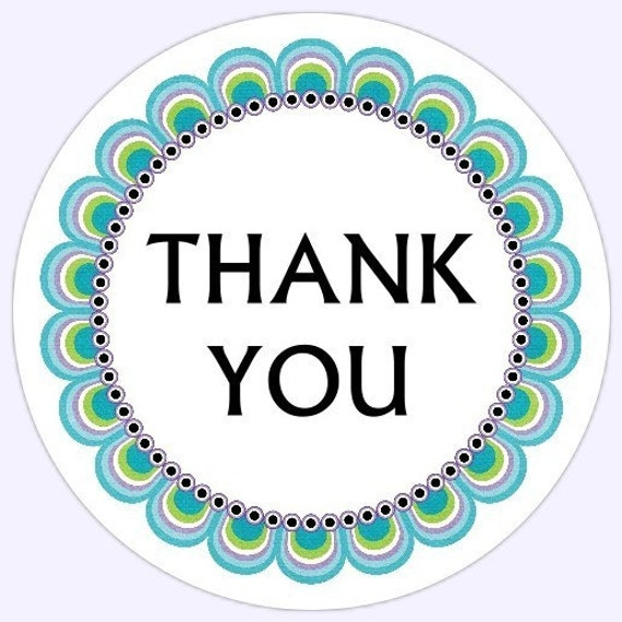 Thank You Stickers, Business Labels, Customer Appreciation Labels, Logo Labels, 2 inch round OR 2.5 inch round