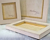 8x10 Warm White and Gold Picture Frame