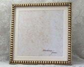 9x9 Silver Boules Square Frame with 8x8 Card Mat