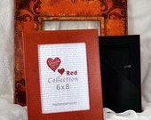 8x6 Red Deluxe Standard Enlargement Photo Frame Hand Painted
