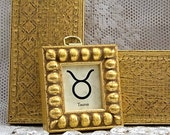 Zodiac Sign of your Choice in Tiny Gold Boules Frame