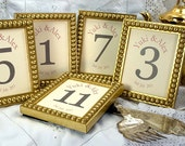 12 Frames 4x5 for Table Numbers or Photos for Wedding and Banquet Gold Table Decor