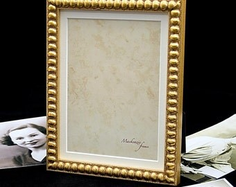 4x6 inch Narrow Gold Boules Photo Frame/Golden Wedding/Bride and Groom/Office Desktop/Standard Size Photo Frame 4x6 inches