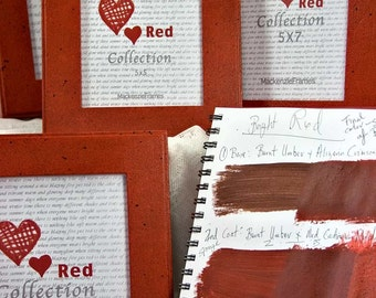 5x7 Red Collection Deluxe Standard Hand Painted Photo Frame