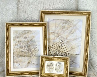 6x8 inch Shabby Cottage White & Gold Boules Photo Frame/Wedding/Bridesmaids Gift/Office Desktop/Standard Photo Frame 6x8 inches