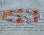 Bohemian Fire and Ice Swarovski Crystal Bracelet