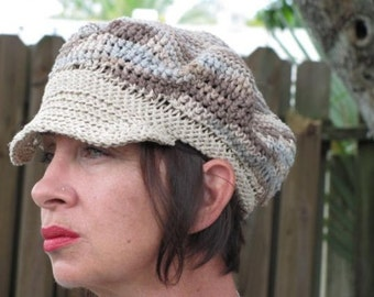 Organic Hemp and Cotton Newsboy Hat In Neutral colors