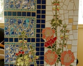 Holly Hocks Mosaic- Flowers, vines