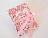 Accordion book-  pink plum blossom chiyogami (3x4in.) - Ready to ship