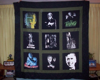 throw size t shirt quilt