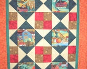 Fall Harvest Autumn Quilt Kit Pre Cut 35 x 47 Wall Hanging Lap Quilt Size Directions Included
