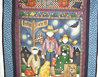Quilt Kit Pre-Cut Lap Quilt Wallhanging Halloween Debbie Mumm Fabric 38 x 52 NEW Panel and Border Fabric