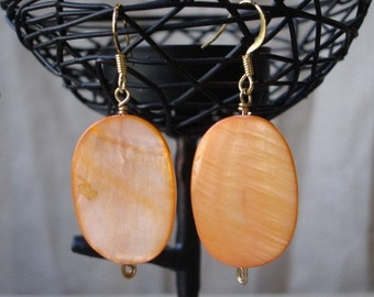 Orange Mother of Pearl Earring