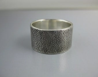 sterling silver textured unisex band, sterling band, silver ring, recycled silver, eco-friendly ring, mens ring, womens ring, wedding band