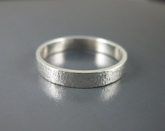 ultra-thin hammered sterling band, wedding band, modern ring, stacking band, thin silver ring, textured silver ring