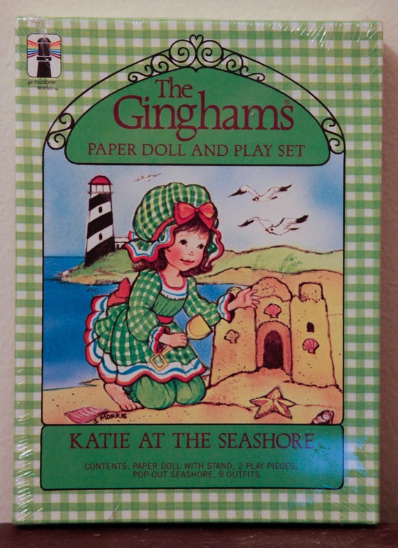 The Ginghams Paper Doll Katie at the Seashore