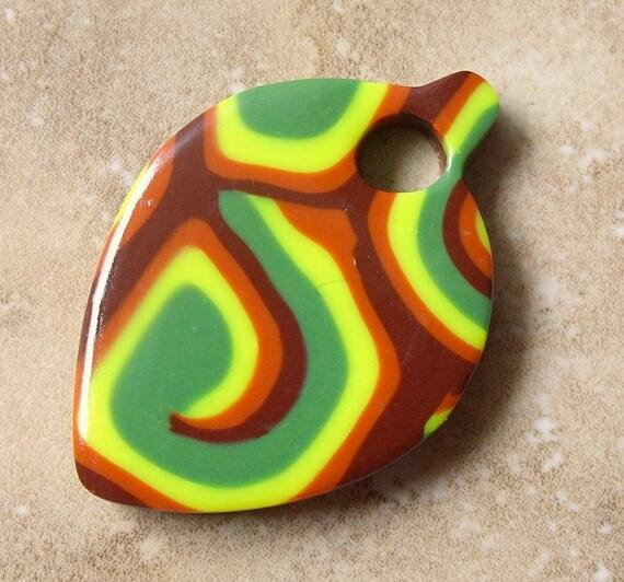PIF Polymer Clay Autumn Leaf Pendant