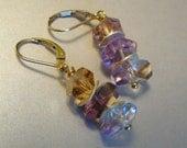 Ametrine Earrings with Gold
