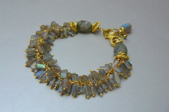 On The Fringe with Labradorite and Gold