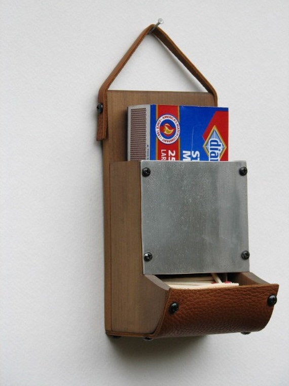 Wooden Match Box Holder Wall Mounted