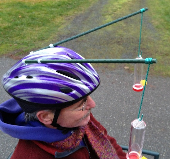 Hummingbird Feeder Hat, Purple and Silver, Watch the video