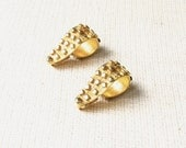 Rare Pauline Rader Gold Tone Clip-on Earrings - Signed