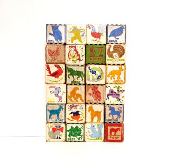 Personalized Vintage Block Set - Custom Order For Jacinta