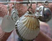 Large Seashell with Charms Bangle