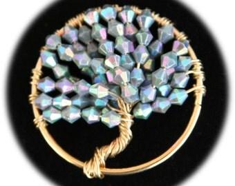 Opalescent Tree of Life Pendant