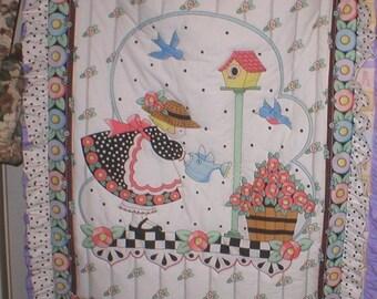 Reduced price Little girls' crib quilt
