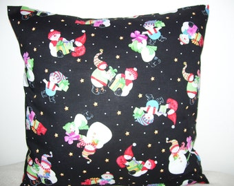 Christmas Snowmen Pillow Covers - Set of 2
