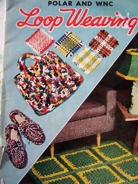 Vintage 50's, Loop Weaving Booklet, Instructional Booklet, Loom Weaving, Craft Book